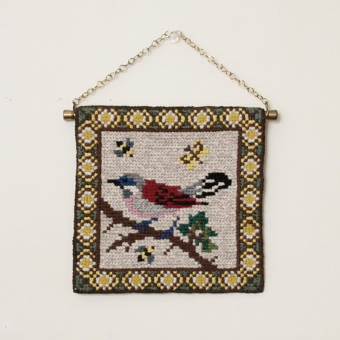 SWEDEN TVISTSOM EMBROIDERY TAPESTRY BIRD(F)