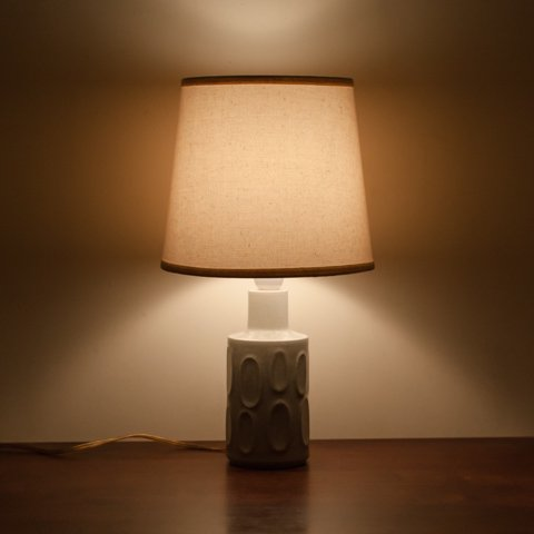 DENMARK Desiree LT.GREY CERAMIC BASE TABLE LAMP