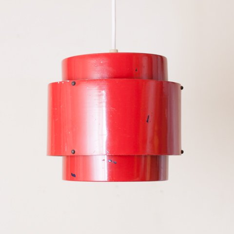DENMARK RED 3 SHADES LAMP