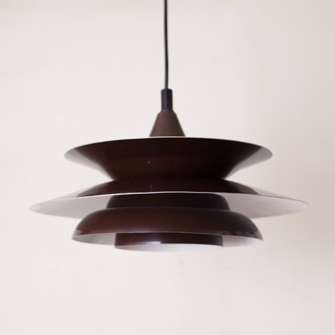 DENMARK DK.BROWN 4 SHADE PENDANT LAMP