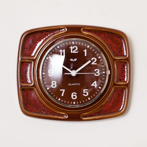 GERMANY SVS BRICK RED CERAMIC WALL CLOCK