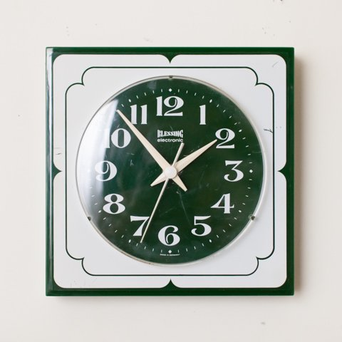 GERMANY BLESSING electronic PLASTIC WALL CLOCK