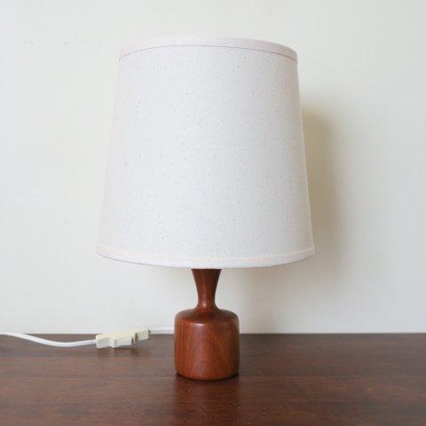 DENMARK SOLID TEAK BASE TABLE LAMP