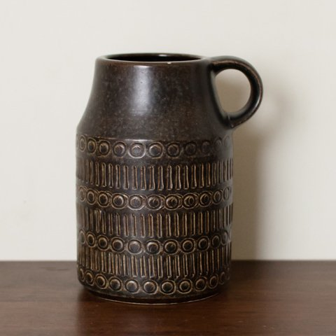 W.GERMANY CHOCOLATE BROWN VASE