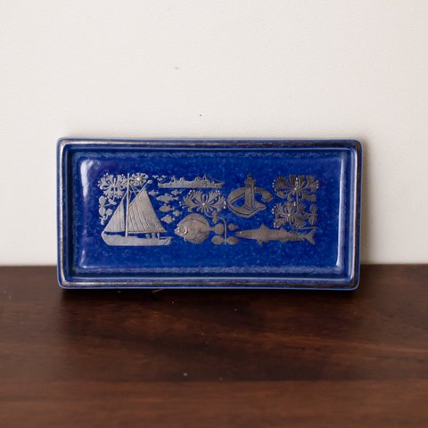 SWEDEN GUSTAVSBERG LAGUN BLUE TRAY