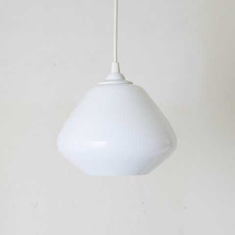 DENMARK MILKY WHITE/CLEAR DOUBLE GLASS SHADE LAMP