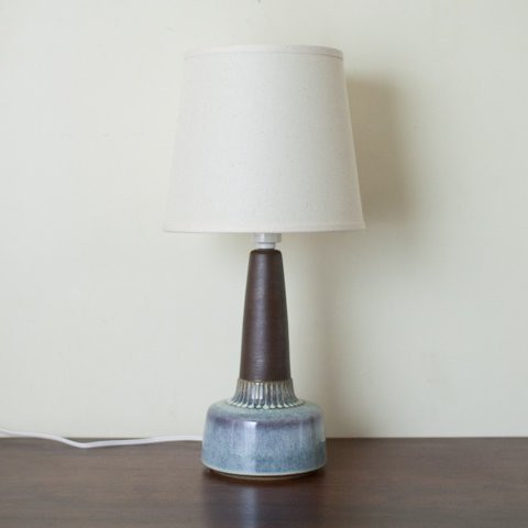 DENMARK SOHLM LT.BLUE/DK.BROWN CERAMIC TABLE LAMP