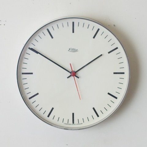 DENMARK eltime LT.GREY COLOR CLOCK