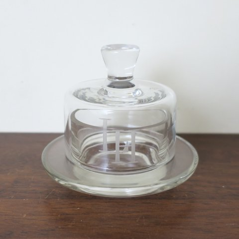 DENMARK CLEAR GLASS CHEESE DOME(LH)