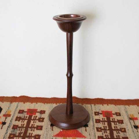 DENMARK SOLID TEAK FLOOR ASHTRAY