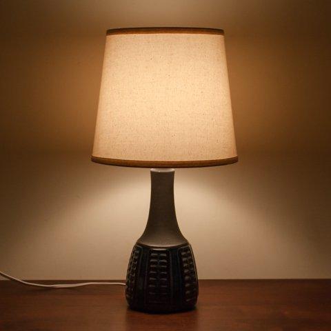DENMARK SOHLM NAVY BLUE/MAT BLACK CERAMIC TABLE LAMP