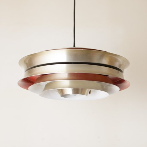 SWEDEN Carl Thore design S.GOLD/BRICK 8 SHADES PENDANT LAMP