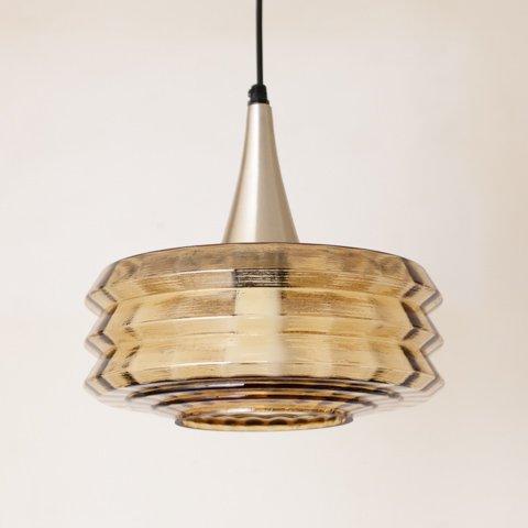 DENMARK AMBER GLASS SHADE PENDANT LAMP