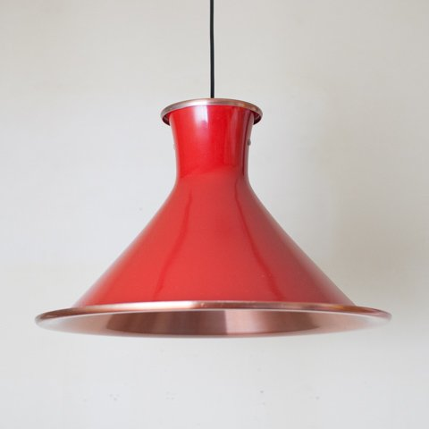 DENMARK RED ALUMINUM SHADE PENDANT LAMP
