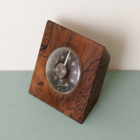 DENMARK SOLID ROSEWOOD THERMOMETER