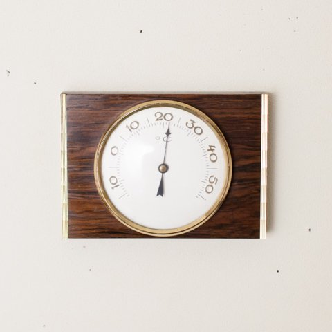 DENMARK TEAK/GLASS WALL THERMOMETER
