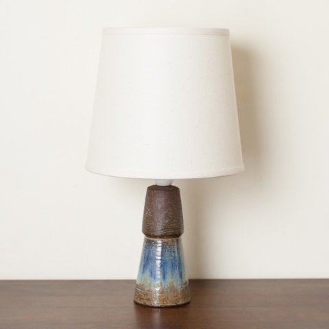 DENMARK MICHAEL ANDERSEN & SON BROWN/BLUE CERAMIC TABLE LAMP
