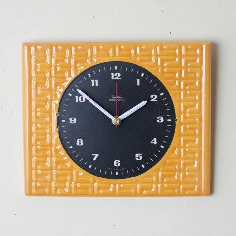 GERMANY DIEHL MUSTERD/BLACK CERAMIC WALL CLOCK