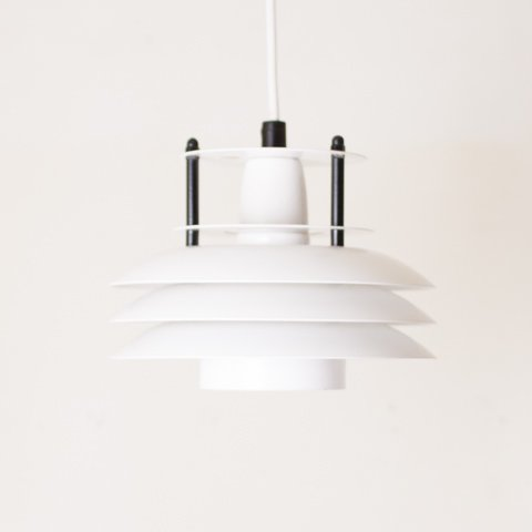 DENMARK WHITE/BLACK  6SHADES PENDANT LAMP