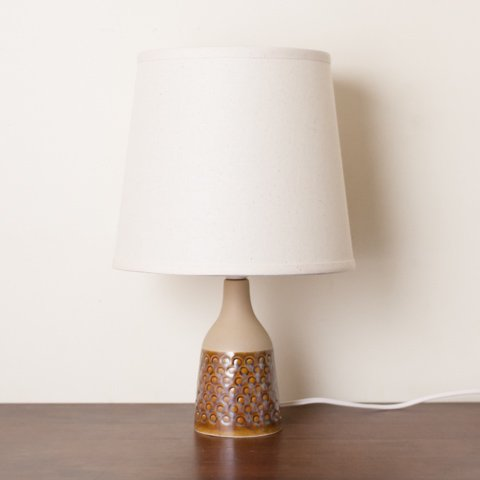 DENMARK SOHLM BROWN DOT PATTERN CERAMIC TABLE LAMP