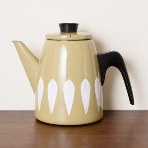 CATHRINEHOLM NORWAY OLIVE/WHITELOTUS TEA POT