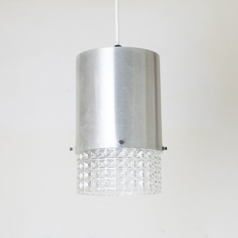 DENMARK SILVER/PRESSING GLASS SHADE LAMP