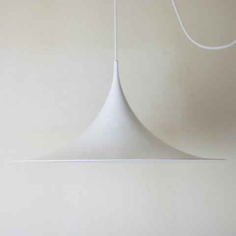 DENMARK FOG&MORUP(LYSKAER) MILKY WHITE SEMI PENDANT LAMP DIAMETER 60CM