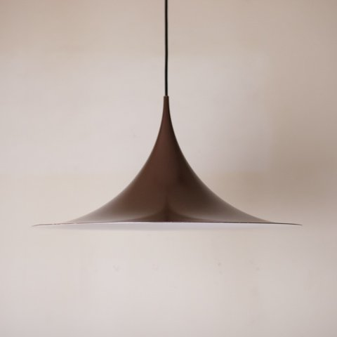 DENMARK FOG&MORUP BROWN SEMI PENDANT LAMP DIAMETER 47CM