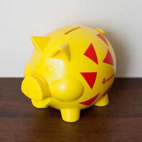 DENMARK GiroBank YELLOW PIG COIN BANK