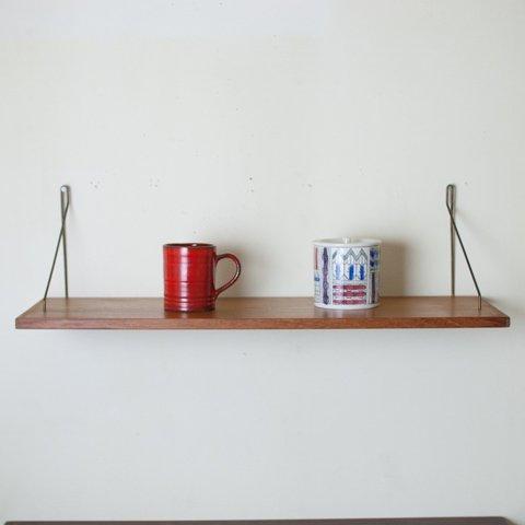 DENMARK TEAK/STEEL WALL SHELF(W725)