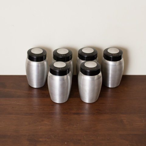 ALUMINUM SPICE BOTTLE SET FROM U.S.A
