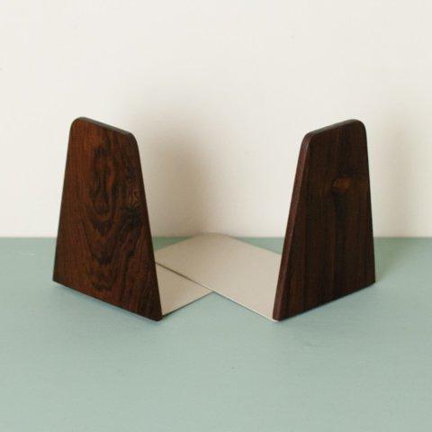 DENMARK ROSEWOOD/STEEL BOOKEND SET