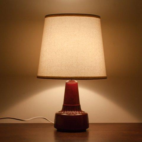DENMARK SOHOLM DARK WINE RED CERAMIC TABLE LAMP