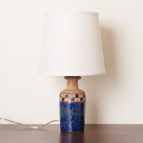 DENMARK SOHOLM NAVY BLUE/TERRA COTTA CERAMIC TABLE LAMP