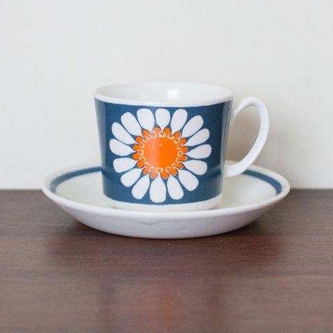 NORWAY FIGGJO DAISY COFFEE CUP&SAUCER(B)