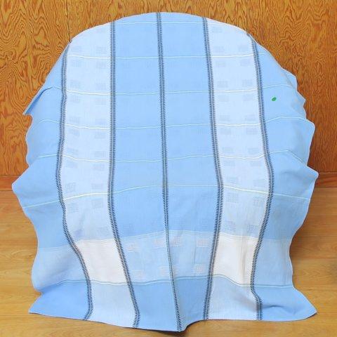 DENMARK LT.BLUE/BLACK/WHITE DOBBY WEAVE TABLE CLOTH