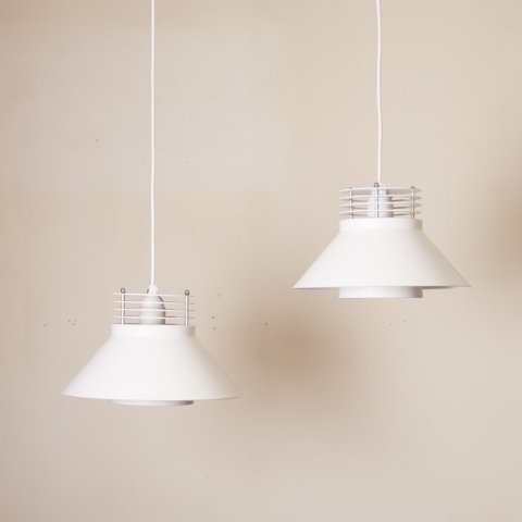 DENMARK MILKY WHITE CONE SHAPE PENDANT LAMP SET