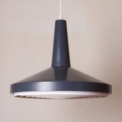 DENMARK DARK CHARCOAL GREY STEEL SHADE/LOUVER PENDANT LAMP