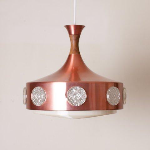 DENMARK COPPER U.F.O. STYLE SHADE PENDANT LAMP