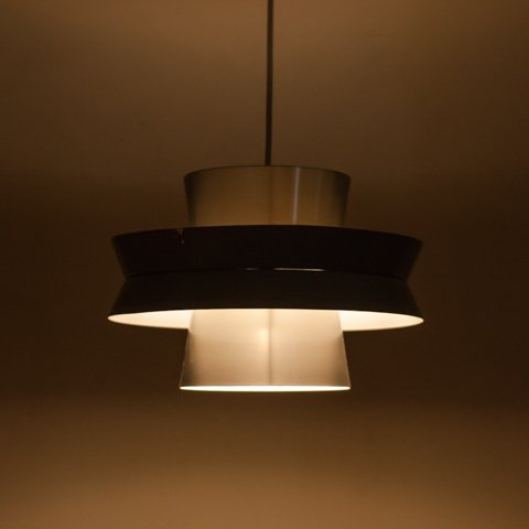 SWEDEN ? DENMARK ? BLUISH GREY/SILVER 4 SHADES PENDANT LAMP