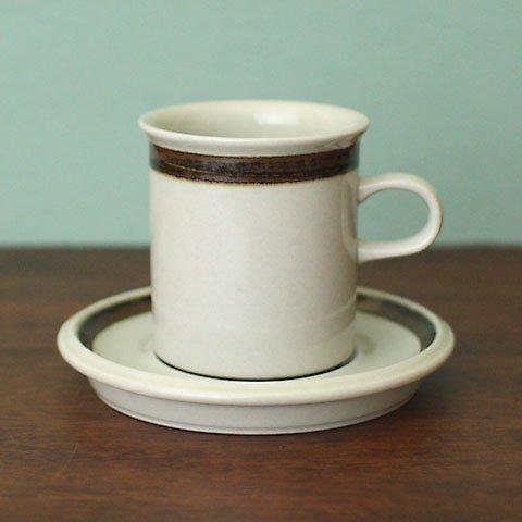 ARABIA Ulla Procope BROWN LINE COFFEE C/S