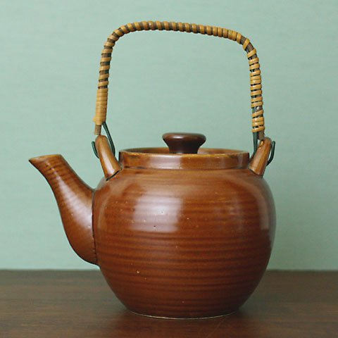 SWEDEN BROWN ROUND TEA POT