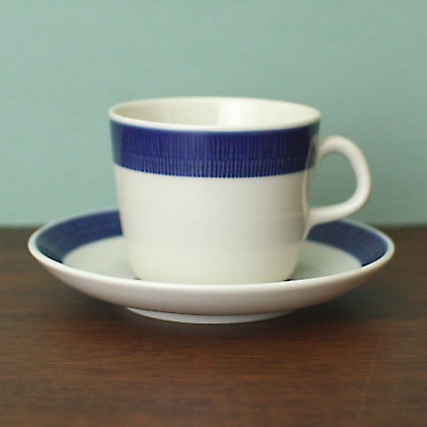 SWEDEN RORSTRAND KOKA BLUE COFFEE C/S