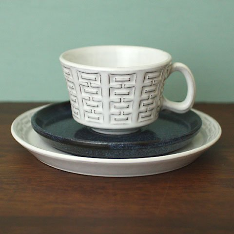 W.GERMANY CERAMANO TEA TRIO