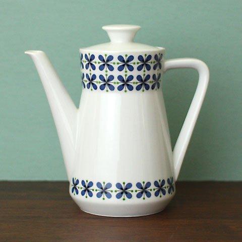 W.GERMANY BLUE FLOWER COFFEE POT