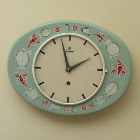 GERMANY JUNGHANS BLUE FISH CLOCK