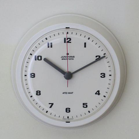 GERMANY JUNGHANS PLASTIC WHITE CLOCK