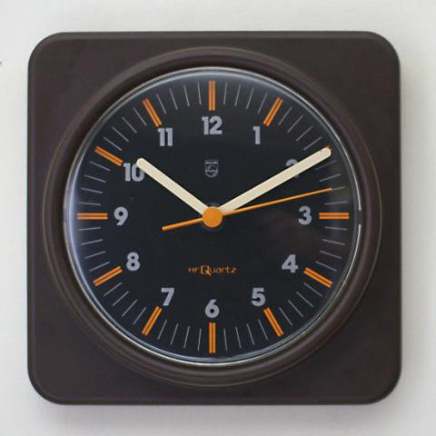 GERMANY PHILIPS PLASTIC BROWN CLOCK