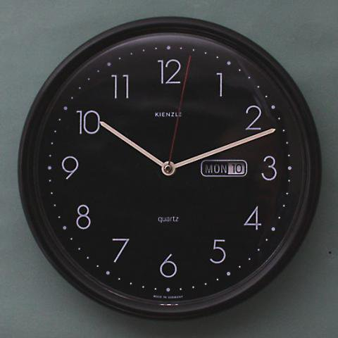 GERMANY KIENZLE PLASTIC BLACK CLOCK