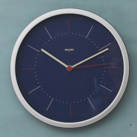 W.GERMANY PHILIPS PLASTIC BLUE CLOCK